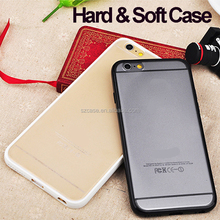 Factory manufacturing hard soft tpu pc clear transparent cell phone case for iphone 7
