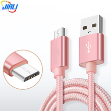 Cloth Braided Metal Heads 5 Pin USB Data Cable for Samsung/ Huawei