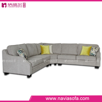 European style chaise lounge living room 6 seater corner combination sofa set