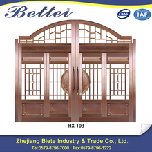 Excellent quality modern iron gate grill designs simple for patio flower