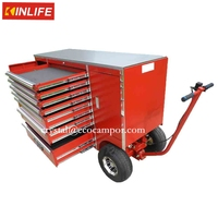 Red 7 Drawer Kraftwelle Tool Box Trolley For Sale
