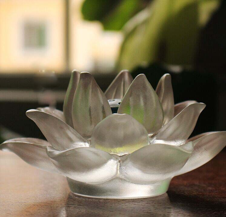Hand Made Glass Crystal Lotus Flower for Wedding Decoration