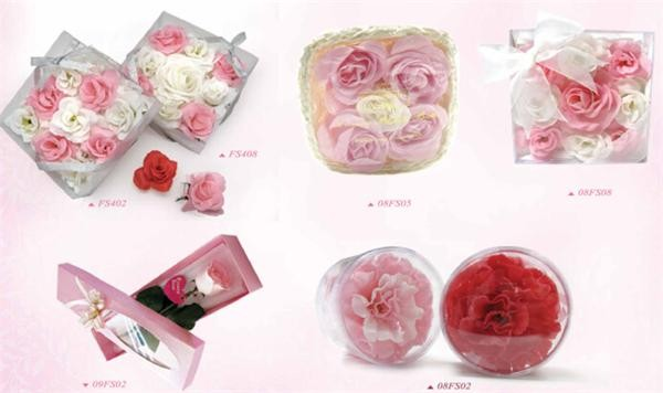 Hand wash paper flower soap for mother's day gift set