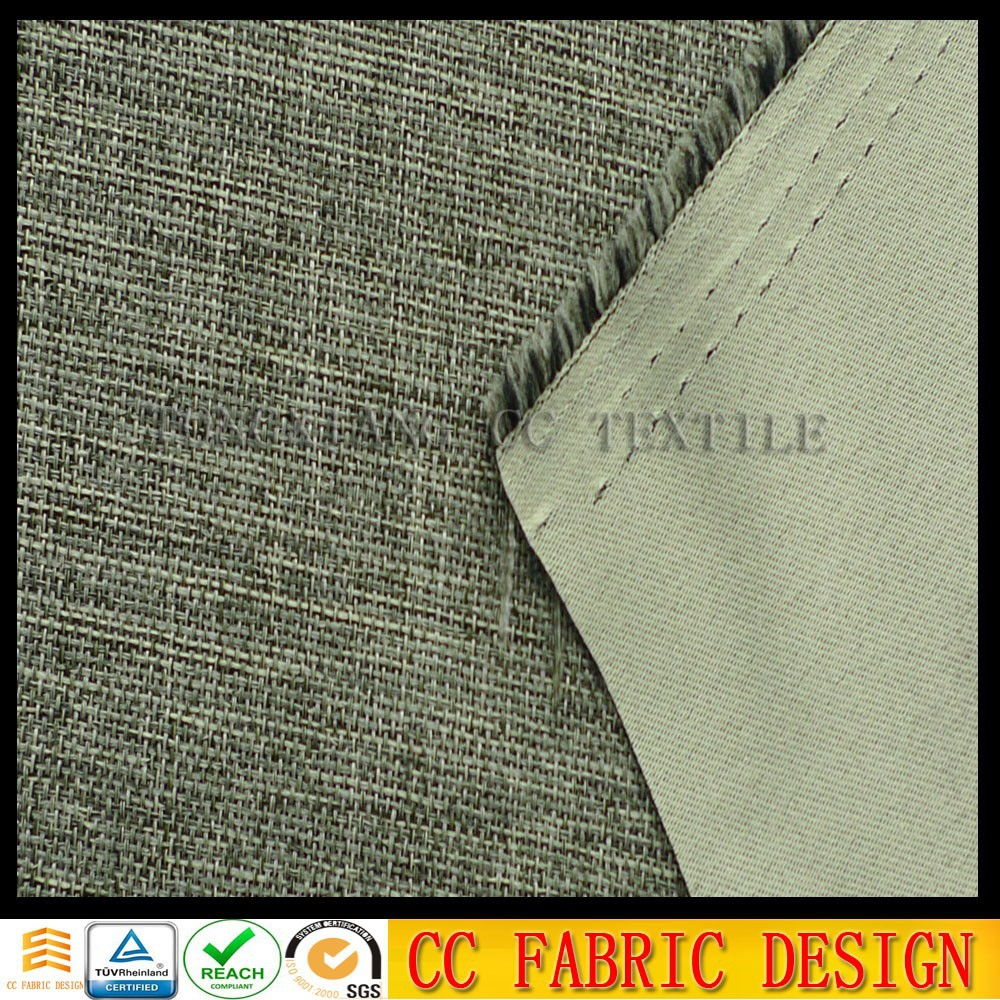 Cutain fabric in china /100% polyester blackout curtain lining fabric