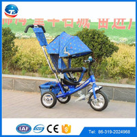 2016 New design CE apporved Cheap price baby kids tricycle/ Steel Frame child Trike tricycle with Canopy