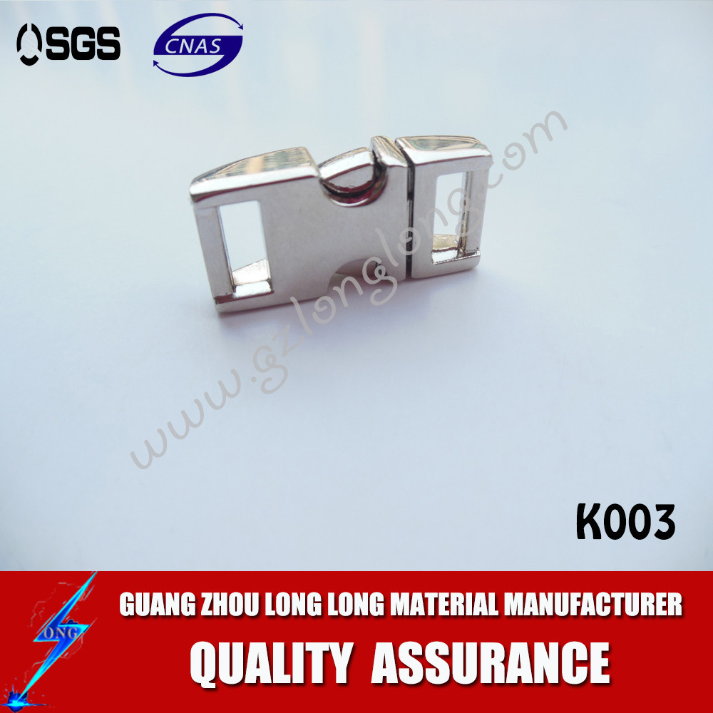 high quality silver color quick side release metal buckle for pet collars /backpack