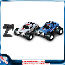 4-wheel-drive rc truck big wheel monster truck with lights 1:10 remote-control smart car 2.4g 4ch rc off road buggy for sale