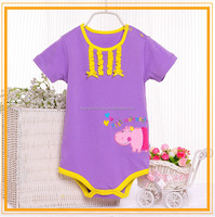 China hot sell OEM wholesale combed cotton plain cotton baby boy rompers