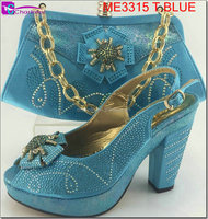 african shoes and bags italian matching shoes and bags shoes for party wedge shoes and bags ME3315 T.blue