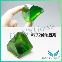 Factory price wholesale synthetic nanosital rough color olivine pricing