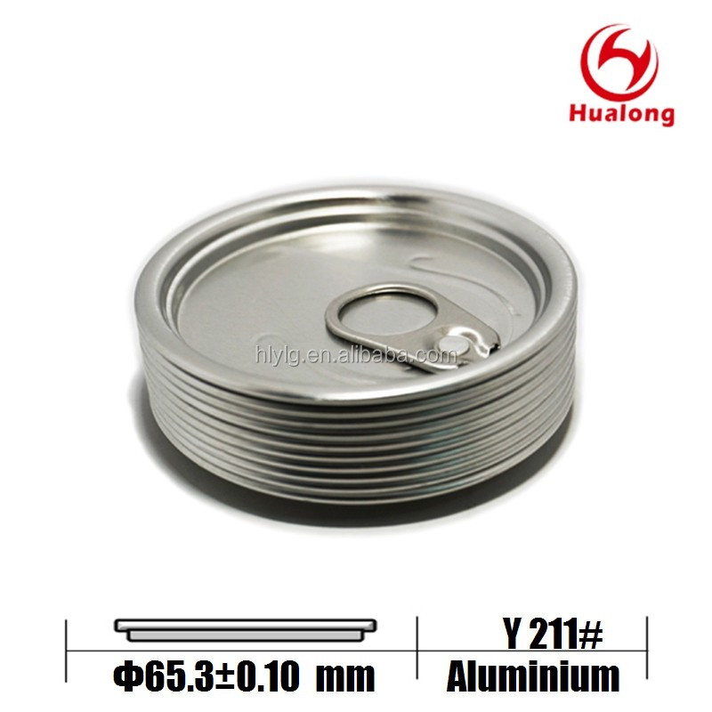 65mm round aluminium easy open can lid for oil