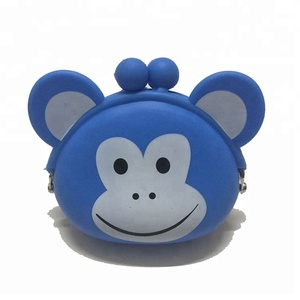 Animal Mini Wallet Monkey King Purses Ladies Silicone Coin Purse Candy Color Mini Bag Keys cat Pouch Clutch Handbags