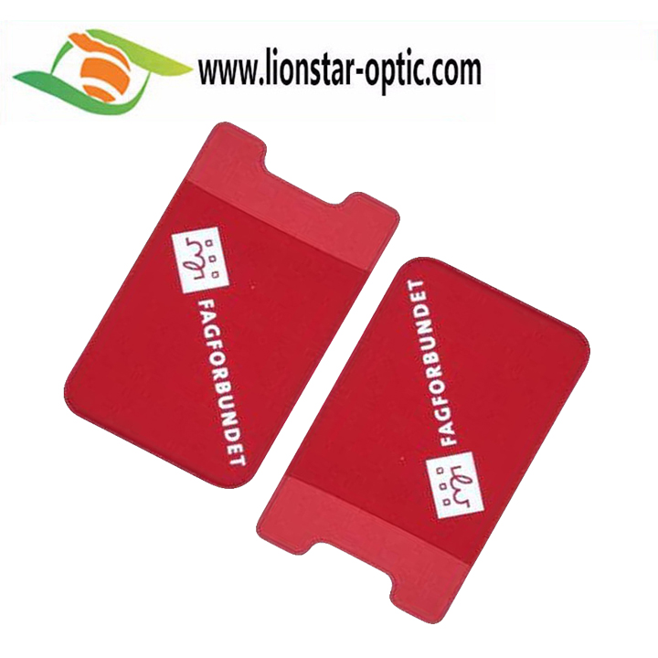 5-10% Discount Off in MarchFactory Price Printing Customized PVC Smartphone Stickers ID Card Holder Lycra Phone Card Holder