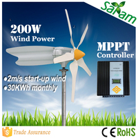 China manufactured 200W 12V 24V high-speed wind turbines