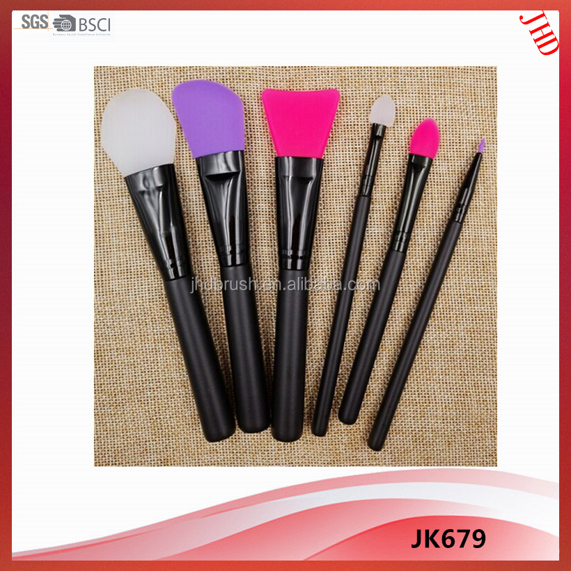 6pcs Silicone cosmetic brush set for makeup