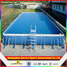 rectangular metal frame pool /Above Ground Swimming Pool/outdoor metal swimming pool PVC tarpaulin Inflatable swimming pool for