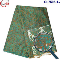 CL7595 Latest design fashionable african french lace fabric for women making dress fabric