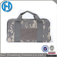 two layer double side gun case with elastic pistol military gun case