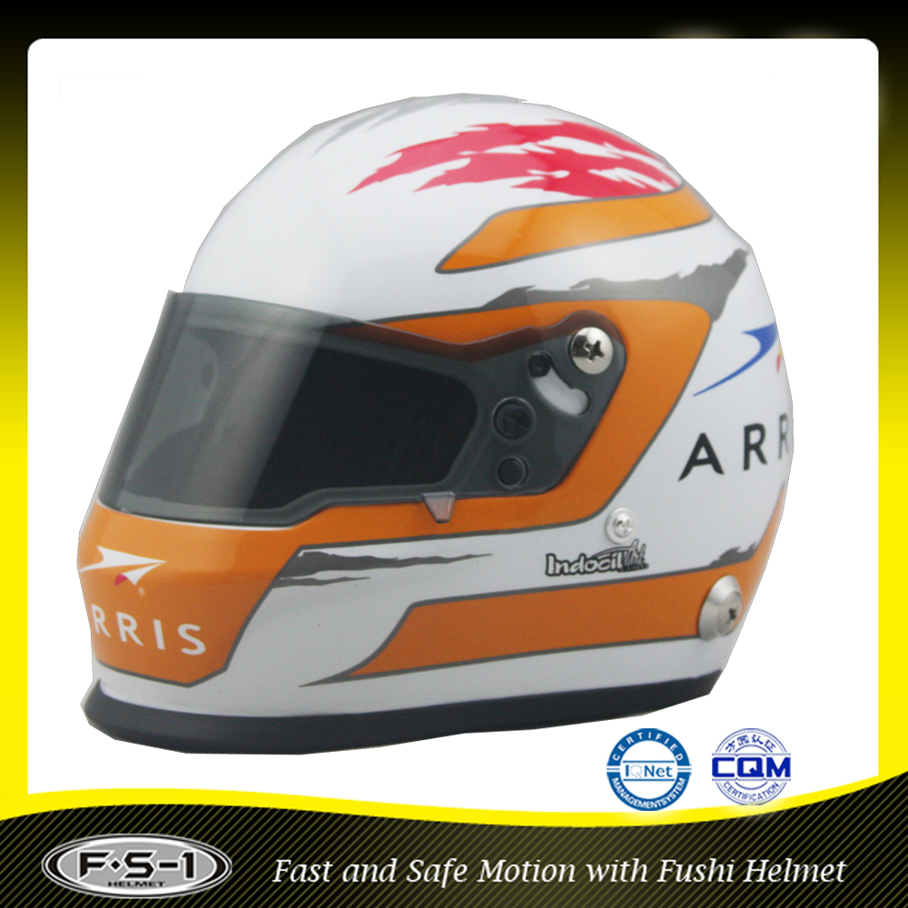 Fashion design Full Face Helmet Mini Racing Car Helmet