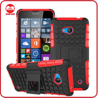 Dual Layer Tough Rugged Kickstand Hybrid Heavy Duty Shockproof Cover Case for Microsoft Lumia 640
