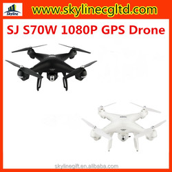 SJ RC S70W GPS Follow Me WIFI FPV RC Drone Helicopter with 1080P Camera Wide angle GPS Position Quadcopter VS DJI Phantom 4