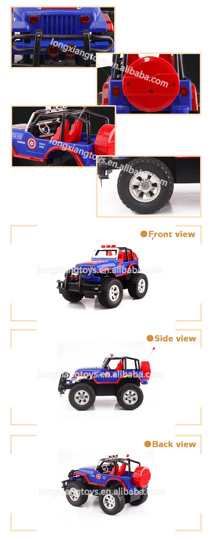 LX High Quality ABS Rc Hobby Ruggedness 4 Channel Rc Rock Crawler For Sale