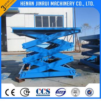 Stationary In Floor Hydraulic Elevating Cart Lift