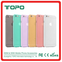 Ultra Slim 0.3mm PP half soft Plastic Translucent Frosted Cell Phone Case Back Cover for iphone6 6S plus