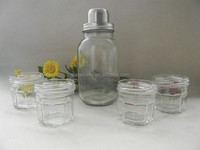 wholesale glass mason jar cocktail shaker lid