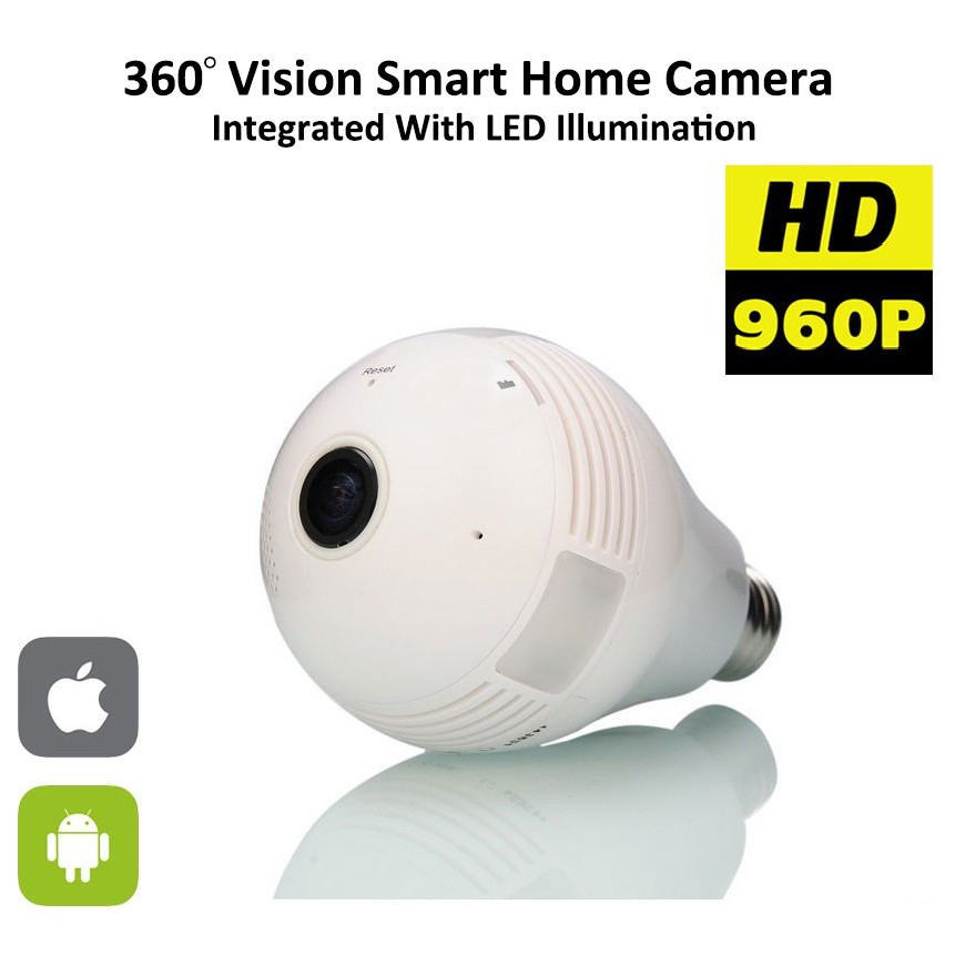 New Style 1.3Megapixels WIFI Vision Smart Home Bulb 360 Degree Camera