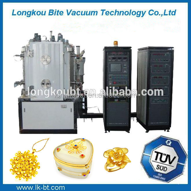 jewelry making metal chain gold ion small pvd coating machine/14kt yellow gold stainless steel pvd coating machine
