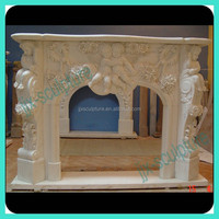 Marble Indoor Used Fireplace Mantel