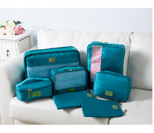 Waterproof 7pc Set Waterproof Clothes Underwear Storage Bags Packing Cube Travel Luggage Organizer Bag