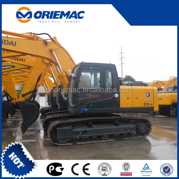 China hyundai 20 tons r215-7c crawler excavator