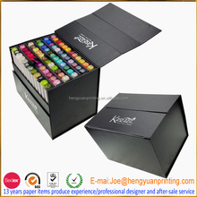Custom crayon packaging box paper cardboard packaging box paper gift box with drawer