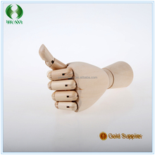 whosale 2016 New Brand Fashion wooden hands ,hand wooden figurines 10Inches
