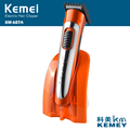 Kemei KM607A 2017 Best Small Electric Hair Clippers Orange Hair Cutters with Base Support