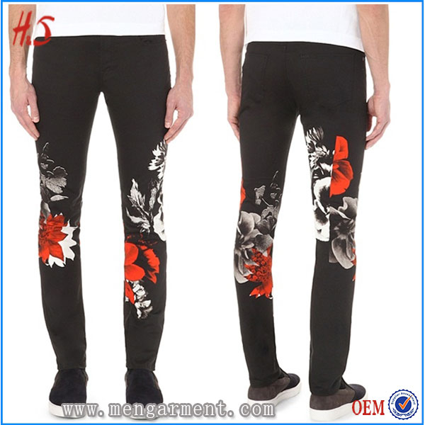 Top Fashion Printing Color Men Jeans,2016 Newest Design Cheap Men Pants,European Style Print Jeans