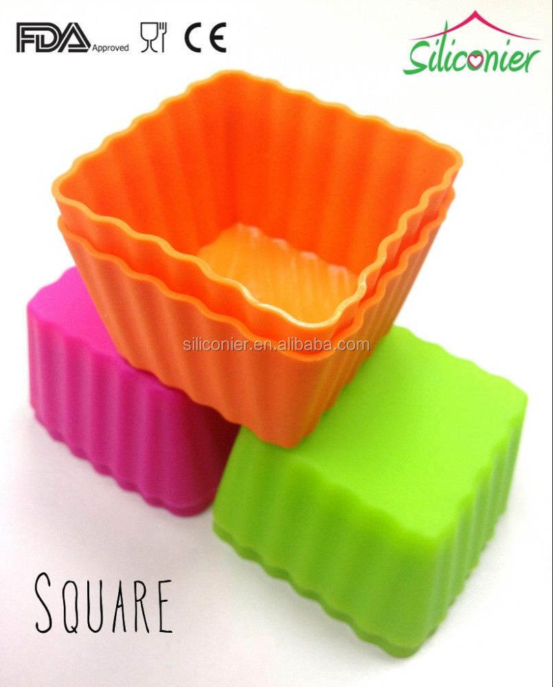 Space Saving Silicone Cupcake Liners Square