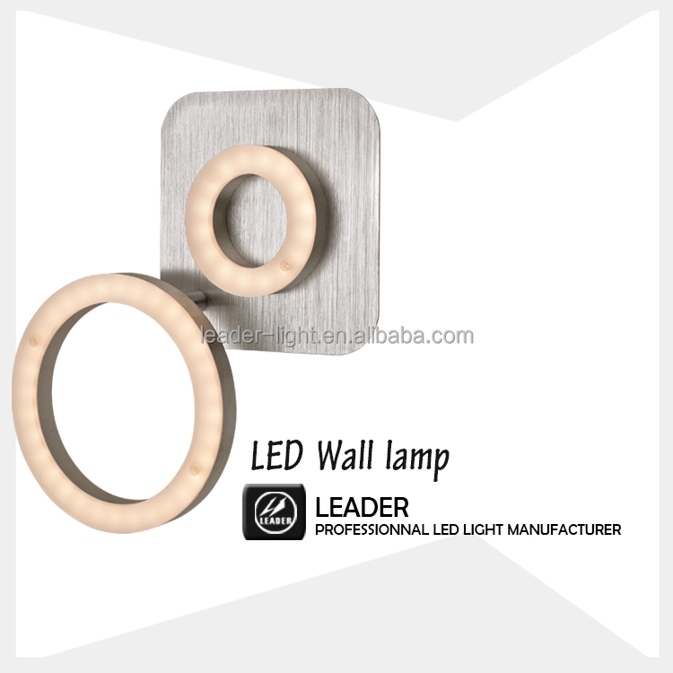 Newest design led wall lights modern style 780lm double ring wall lamp