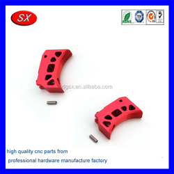 custom red anodized 1911 Aluminum grip part cnc machining service shop