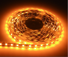 Hot sale White PCB DC12V 60leds/m Yellow Color IP65 Led Strip Tape Ribbon SMD5050