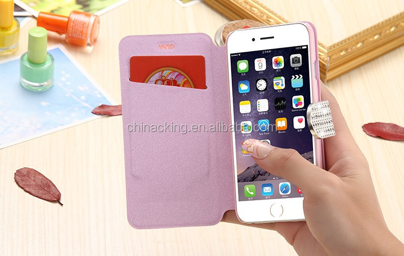 i5/i6/6S/Plus Wallet Pouch Case For iPhone 6 6S For iPhone 6 Plus/ 6S Plus 5 5S Fashion Bling Diamond Stand Flip PU Phone Cover