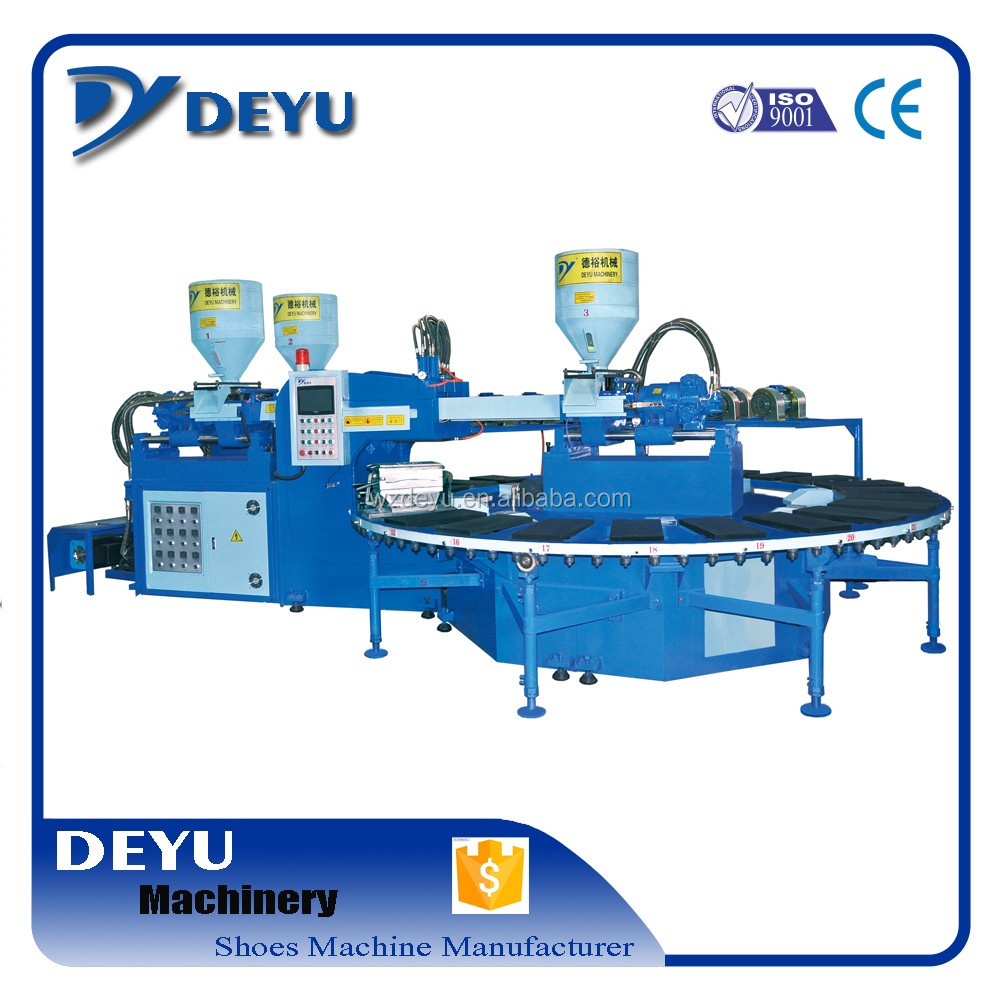 One Head Three Injectors PVC Shoe/Sole Air Blowing Machine