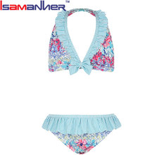 Children bikini swimwear fashion little girls modeling bikini