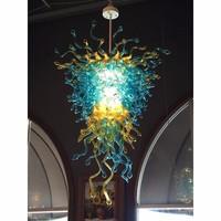 contemporary hand blown multi colored murano glass chandelier