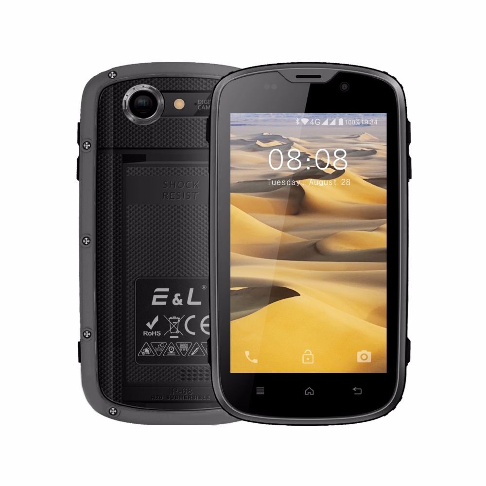E&L W5S Original China Mobile Phone 4.0 Inch Android Ip68 Waterproof Shockproof Phone Touch Phones Unlocked Smartphone 4G