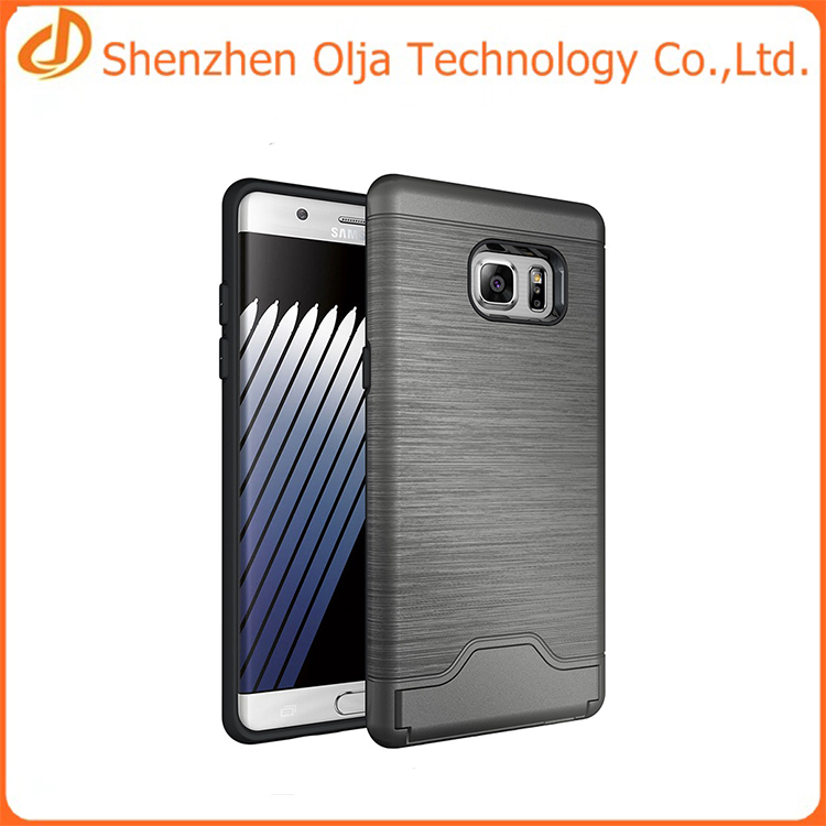 2016 new products card solt TPU+PC Material armor case for samsung galaxy note 7 case