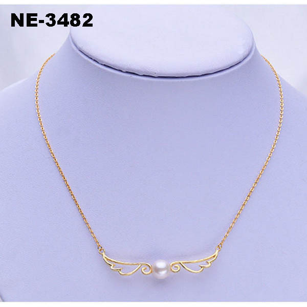 YiWu New Fashion Style Angel Wings Real Pearl Necklace Price