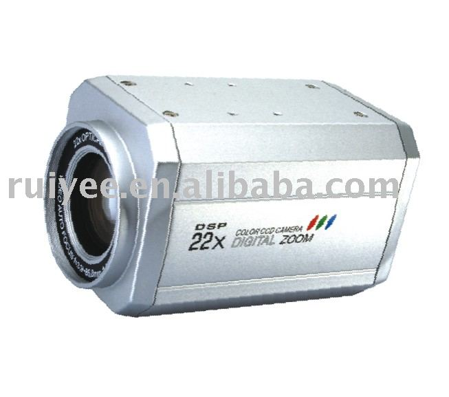 RY-22X2005 Security CCTV CCD 480TVL 22X Optical Zoom 3.0-90mm Lens OSD Menu Box Camera